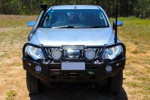 Ironman 4x4 Bullbar and TJM fitted to a Triton - Front View