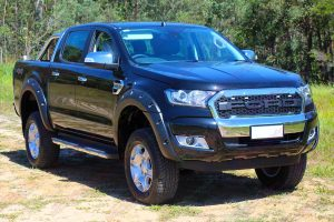 Ford Ranger PX Dual Cab Black - Front Side View
