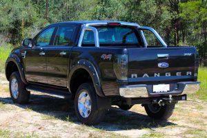 Ford Ranger PX Dual Cab Black - Rear End View