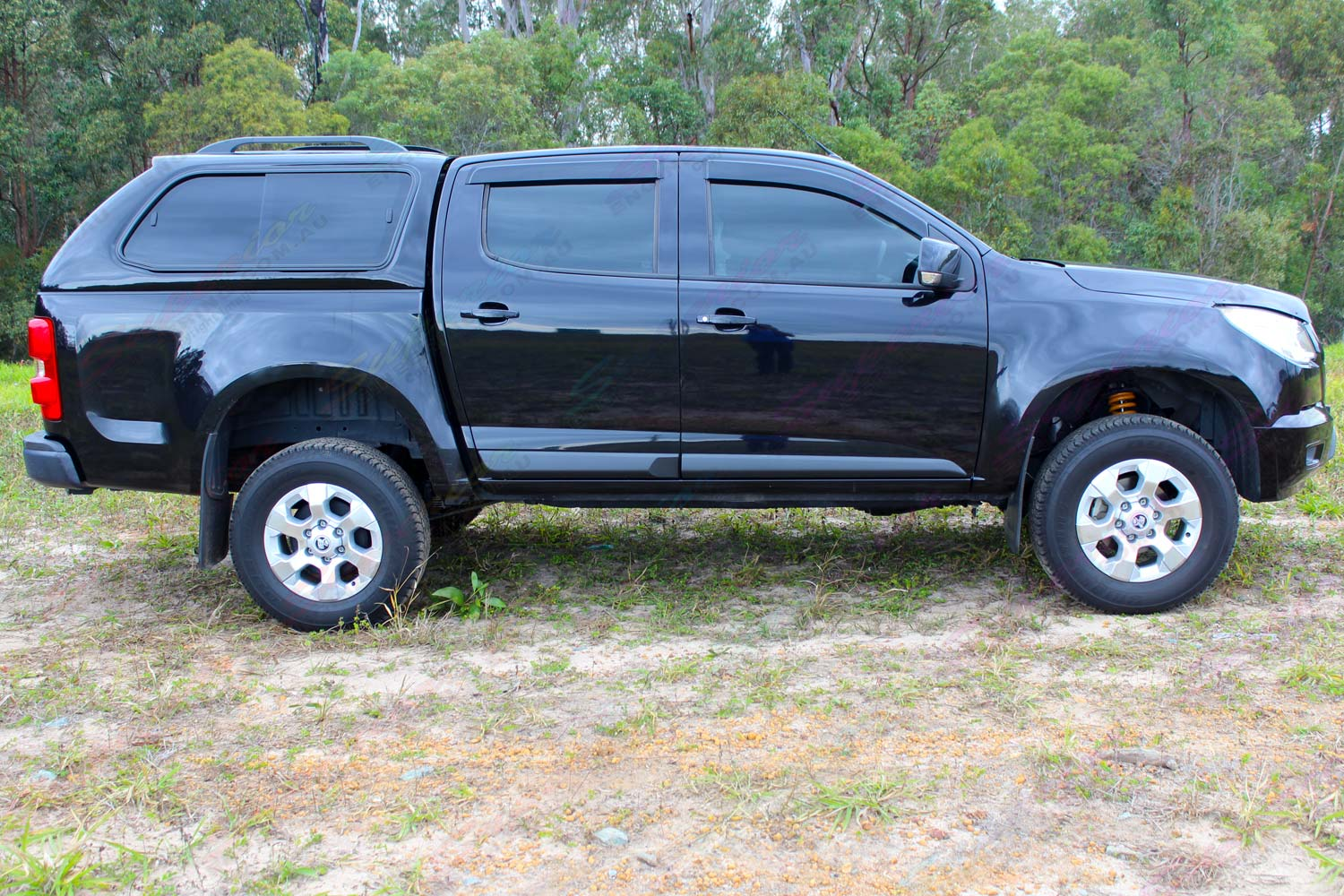 "Right side profile view of the RG Holden Colorado dual cab fitted with an Ironman 4x4 2"" Inch Lift Kit"