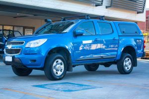 "Front right side view of a RG Holden Colorado fitted with the Superior 2"" lift kit"