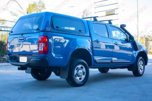 """Rear side end view of a RG Holden Colorado fitted with the Superior 2"""" lift kit"""