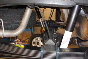 Ironman 4x4 Shocks and leaf springs fitted to the rear of the Holden Colorado RG Dual Cab
