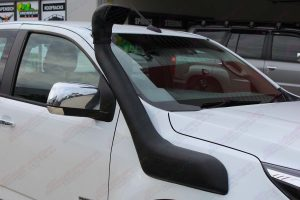 Close up view of the Ironman Airforce Snorkel fitted to the Holden Colorado Space Cab 4WD