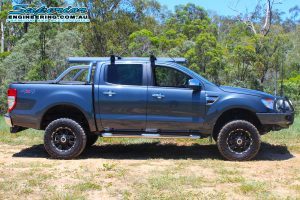Right side view of a Ford PX Ranger after being fitted with a 2 inch Bilstein and EFS Lift Kit by Superior Engineering