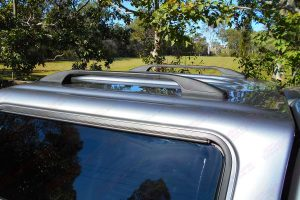 Top view of the Ironman 4x4 ute canopy showing the heavy duty roof racks