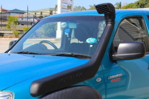 Closeup view of an Ironman 4x4 Snorkel fitted to the Mazda BT-50 Extra Cab