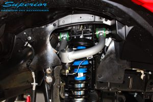 Right front inside view of the fitted Coil Spring with Superior Nitro Gas Strut with Superior Upper Control Arm