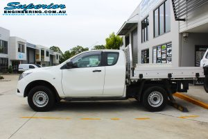 Side view of a Mazda BT50 Freestyle Cab before fitment of a Black Ironman 4x4 Commercial Bullbar