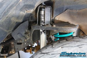 Inside view of a Fox Shock with Dobinson Coil Spring