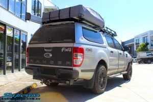 "Rear right view of a Silver Ford PX Ranger before fitment of a Bilstein 2"" Inch Lift Kit"