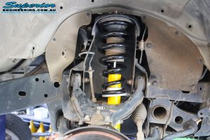Right front inside view of the fitted Bilstein 20mm Front Strut with Coil Spring