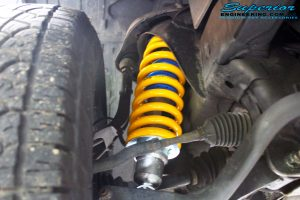 Right front inside view of the fitted Superior Nitro Gas Strut with Coil Spring