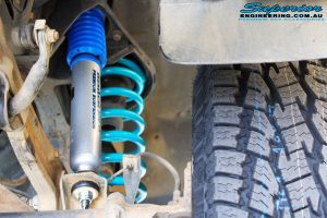 """Front right inside guard view of the fitted Nitro Gas 2"""" Shock + Coil Spring"""