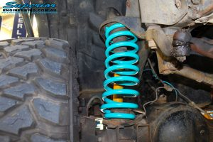 Left rear inside view of the fitted Coil Spring