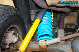 "Rear inside view of the fitted 4"" Coil Airbag with Coil Spring"