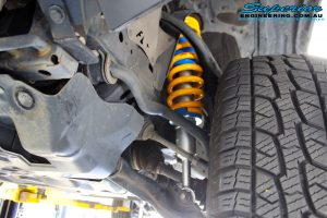 Left front inside view of the fitted Superior Nitro Gas Front Strut with Coil Spring