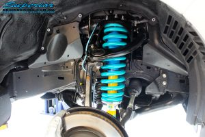 """Front right inside guard view of the fitted Bilstein 2"""" Strut with Coil Spring"""