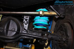"""Right rear inside view of the fitted 4"""" Coil Airbag Lift"""