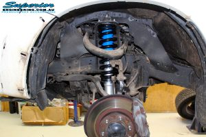 """Front left inside guard view of the fitted Superior Nitro Gas 2"""" Strut with Coil Spring"""