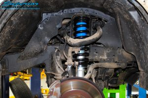 "Front right inside guard view of the fitted Superior Nitro Gas 2"" Strut with Coil Spring"