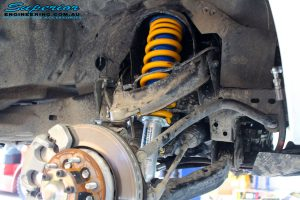Front right inside guard view of the fitted Superior Strut + Coil Spring
