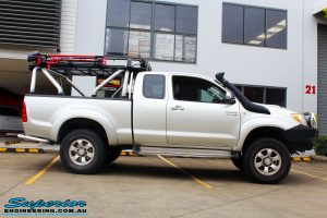 "Right side view of this Toyota Vigo Hilux Xtra Cab before fitment of a Bilstein 4"" Inch Lift Kit"
