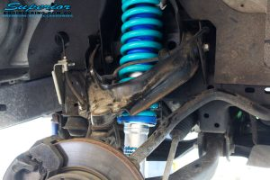 """Front left inside guard view of the fitted Superior Nitro Gas 2"""" Strut + Coil Spring"""