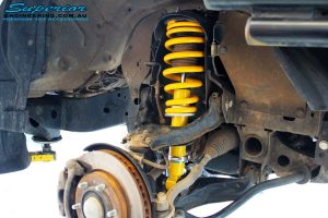 """Right front inside view of the fitted Bilstein 2"""" Inch Front Strut with Coil Spring"""