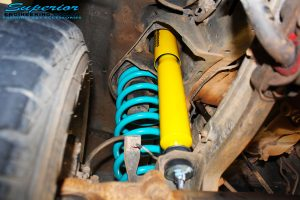 """Front right inside guard view of the Dobinson 2"""" Inch Front Shock with Coil Spring"""
