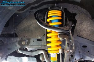 "Left front inside view of the fitted 2"" Inch Front Strut with Coil Spring"