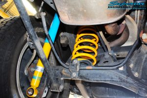 """Rear left shot of the fitted 2"""" Rear Shock and coil spring"""