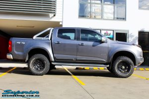 "Right side view of a Grey Holden RG Colorado Dual Cab after fitment of a Superior Nitro Gas 3"" Inch Lift Kit"