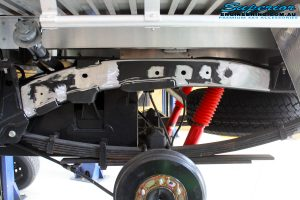Rear left outside shot of the Chassis Plate being prepped