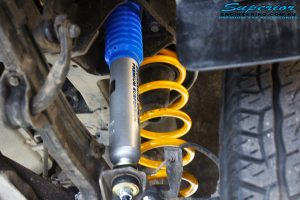 """Right inside close up shot of the fitted 2"""" Nitro Gas Shock with King Spring"""