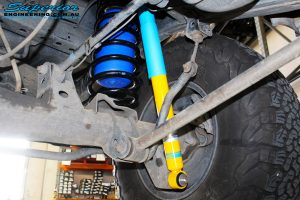 Rear left inside view of the fitted Bilstein Shock + Airbag