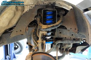"""Front right inside guard view of the fitted Superior Nitro Gas 2"""" Strut with Coil Spring"""