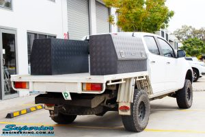 """Rear right side shot of a White Holden RG Colorado Dual Cab after fitment of a Superior 2"""" Body Lift"""