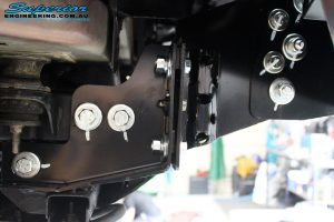 """Front right inside guard view of the fitted Superior 2"""" Nitro Gas Strut + Coil Spring"""