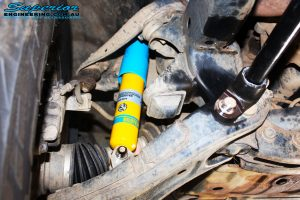 """Front right inside shot of the fitted 2"""" Inch Front Bilstein Shock"""