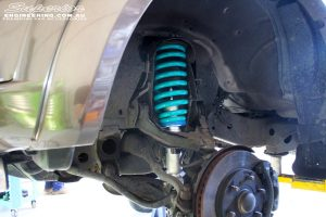 Front right inside view of the fitted Nitro Gas Front Strut + King Coil Spring