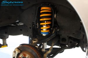Front right inside guard view of the fitted Superior Nitro Gas Strut + Coil Spring