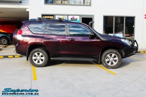 """Right side view of a Toyota 150 Series Prado Wagon before fitment of quality King Coil Springs & Bilstein 2"""" Inch Struts & Shocks"""