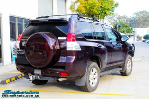 """Rear right view of a Toyota 150 Series Prado Wagon before fitment of quality King Coil Springs & Bilstein 2"""" Inch Struts & Shocks"""