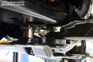 Rear right underbody shot of the fitted Diff Drop Spacer