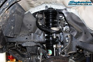 """Front right inside guard view of the fitted EFS Elite 2"""" Strut with Coil Spring"""