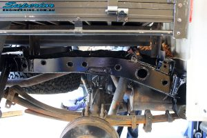 Rear inside right view of the new fitted Chassis Plate