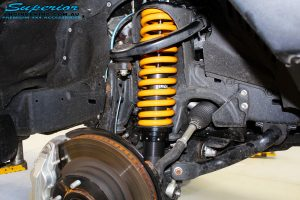 Front right inside guard view of the fitted Ironman 4x4 50mm Front Struts with Coil Spring