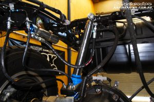 """Rear right shot of the fitted Superior 4"""" Inch Remote Reservoir Shock + Mount"""