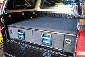 Rear inside looking left shot of new newly fitted EGS Canopy + MSA 4x4 Double Drawer System
